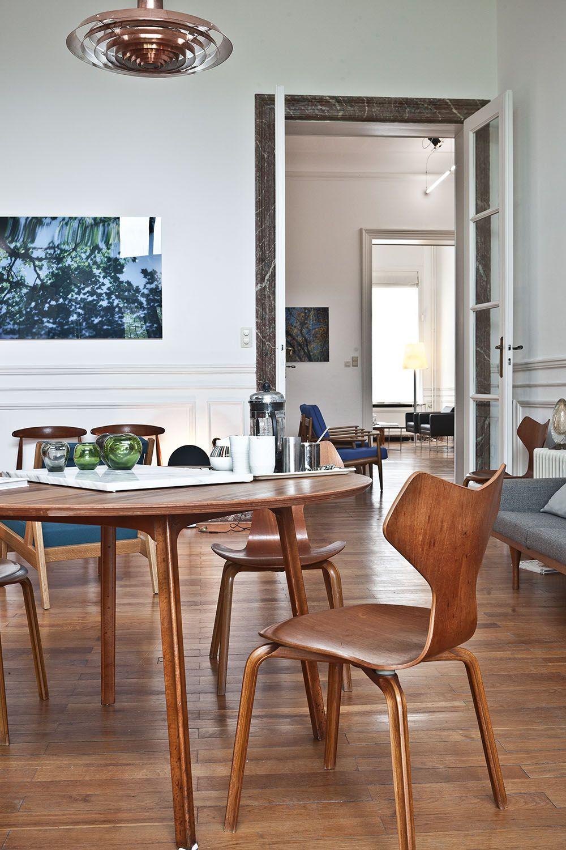 Arne Jacobsen Grand Prix Chairs Table Matsal Inspiration Mobeldesign Interiorer