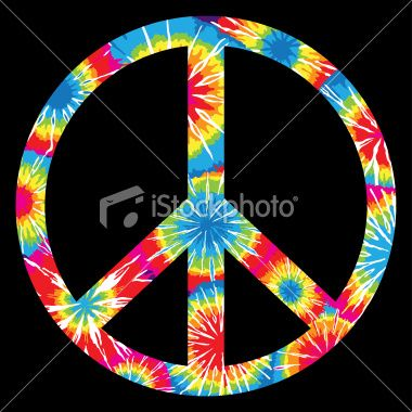 Tie Dyed Peace Symbol Royalty Free iStock Vector Art Illustration
