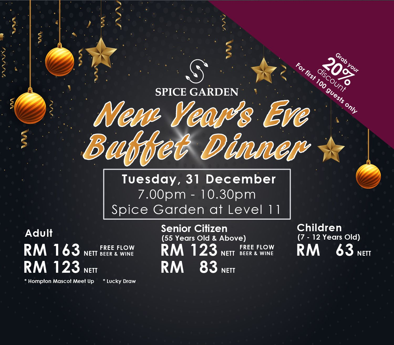 New Year S Eve Buffet Dinner Buffet Spice Garden Room Packages