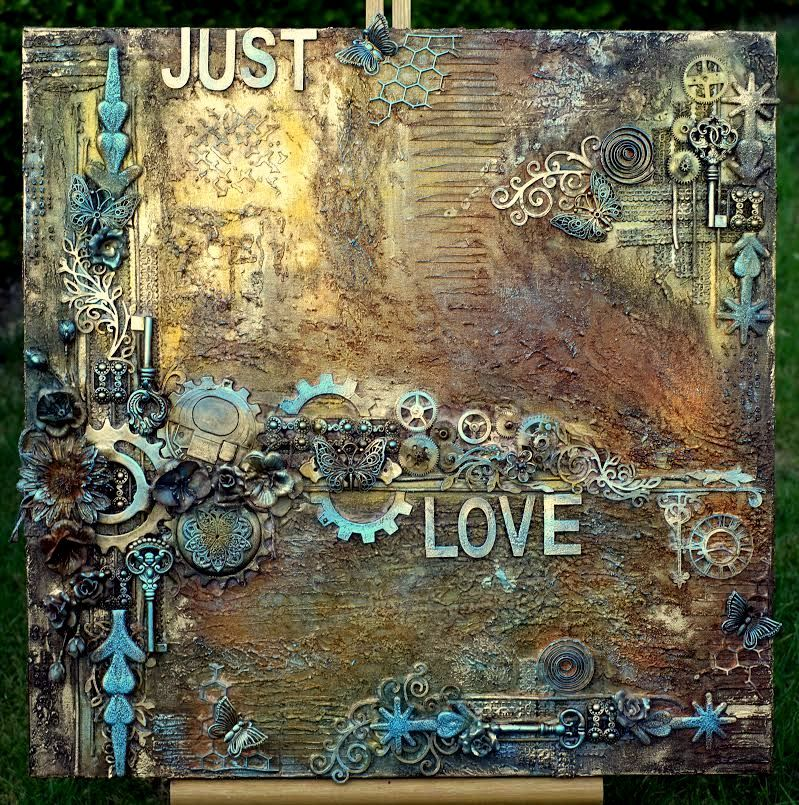 Mixed Media Canvas Made By Irene Wijnands Mix Media