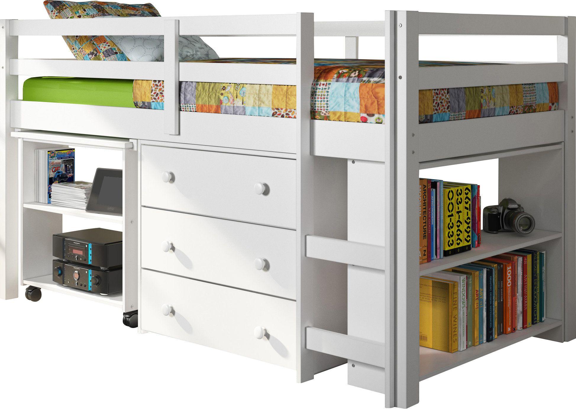 Zechariah Twin Low Loft Bed with Storage Low loft beds
