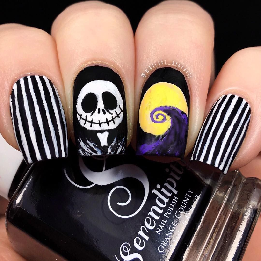 Jack Skellington Nails🎃 | Nails, Disneyland nails ...