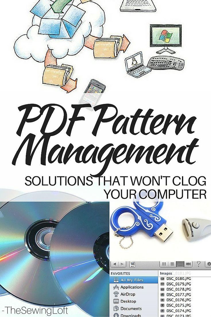 PDF Storage Solution Ideas For Patterns   Organización del hogar ...