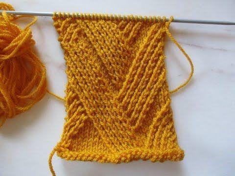 explication en pas à pas du point tricot de ce pull