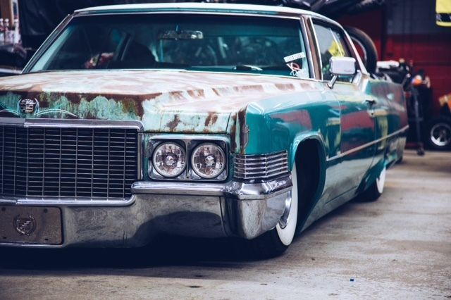 Bagged 1970 Cadillac Coupe Deville Hot Rod Rat Rod Low Rider For