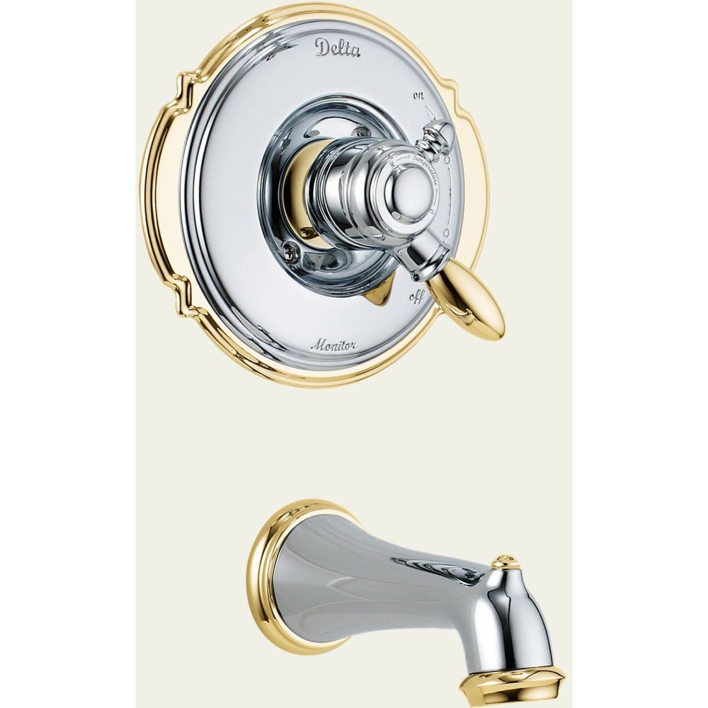Delta Faucet T17155 Victorian Single Handle Monitor 17 Series Tub