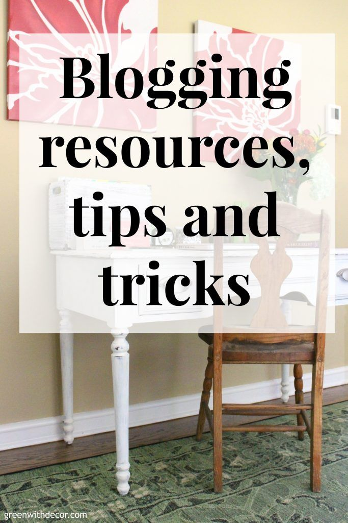This is such a great list of blogging resources, tips and tricks! She talks about photography, website hosting, blogging ebooks, affiliate marketing, emails and more. So glad I found this!