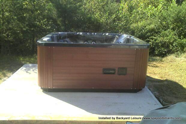 Hawkeye Spa On Cement Slab Pool Installation Swimming Pools Tub