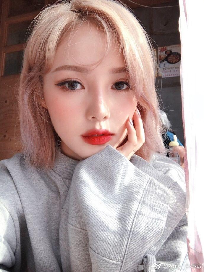 Pony__朴惠敏的微博_微博 髪 色, ヘアメイク, ヘアスタイル