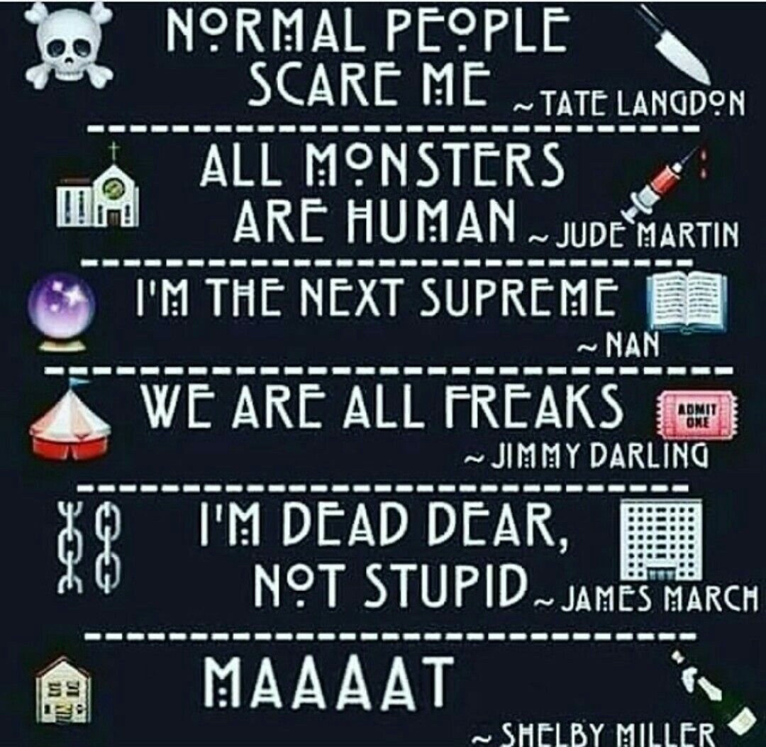 Image about quotes in ahs by giulia costantini