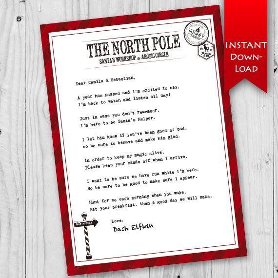 christmas elf return printable letter elf on the shelf editable letter