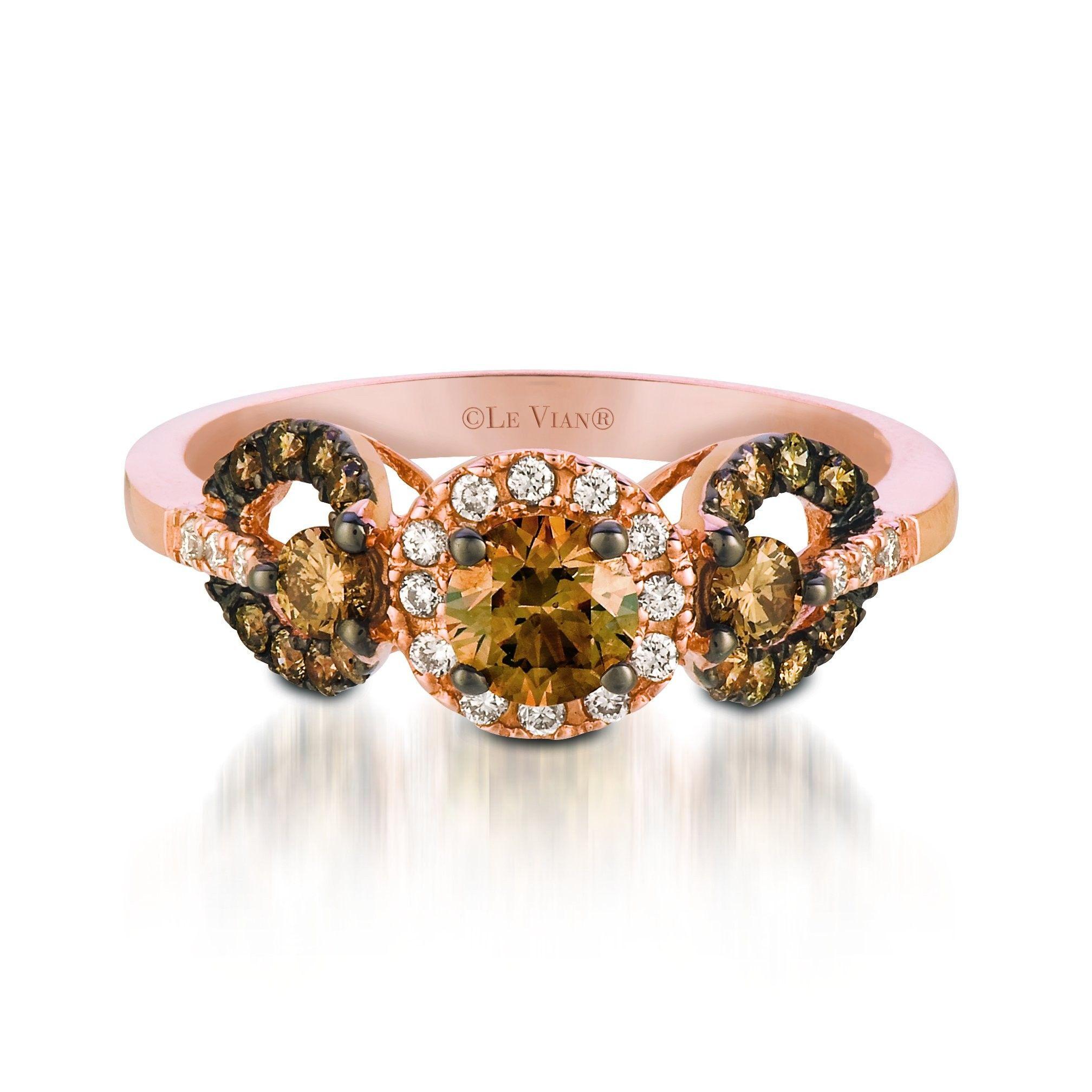 Le Vian 14K Rose Gold Triple Circle Chocolate Diamond Ring
