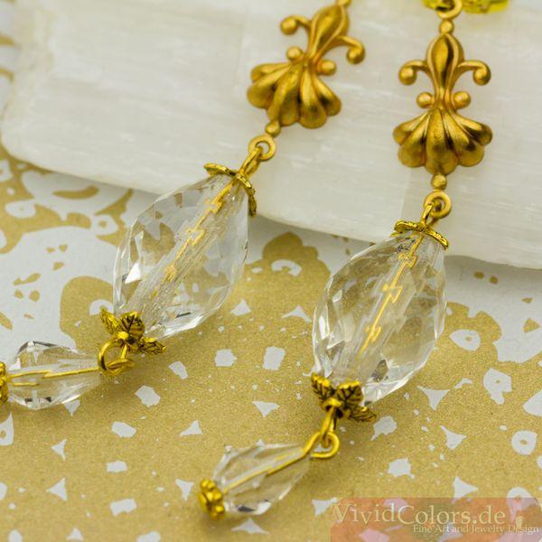 Dangle Earrings – Elegant Vintage Style Drop Earrings  – a unique product by vividcolors on DaWanda