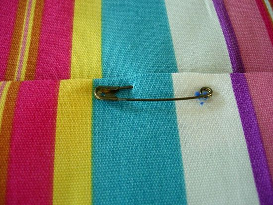 Swing Cushion Cushion Fabric Wrap And Safety Pin A Piece Of Foam With
