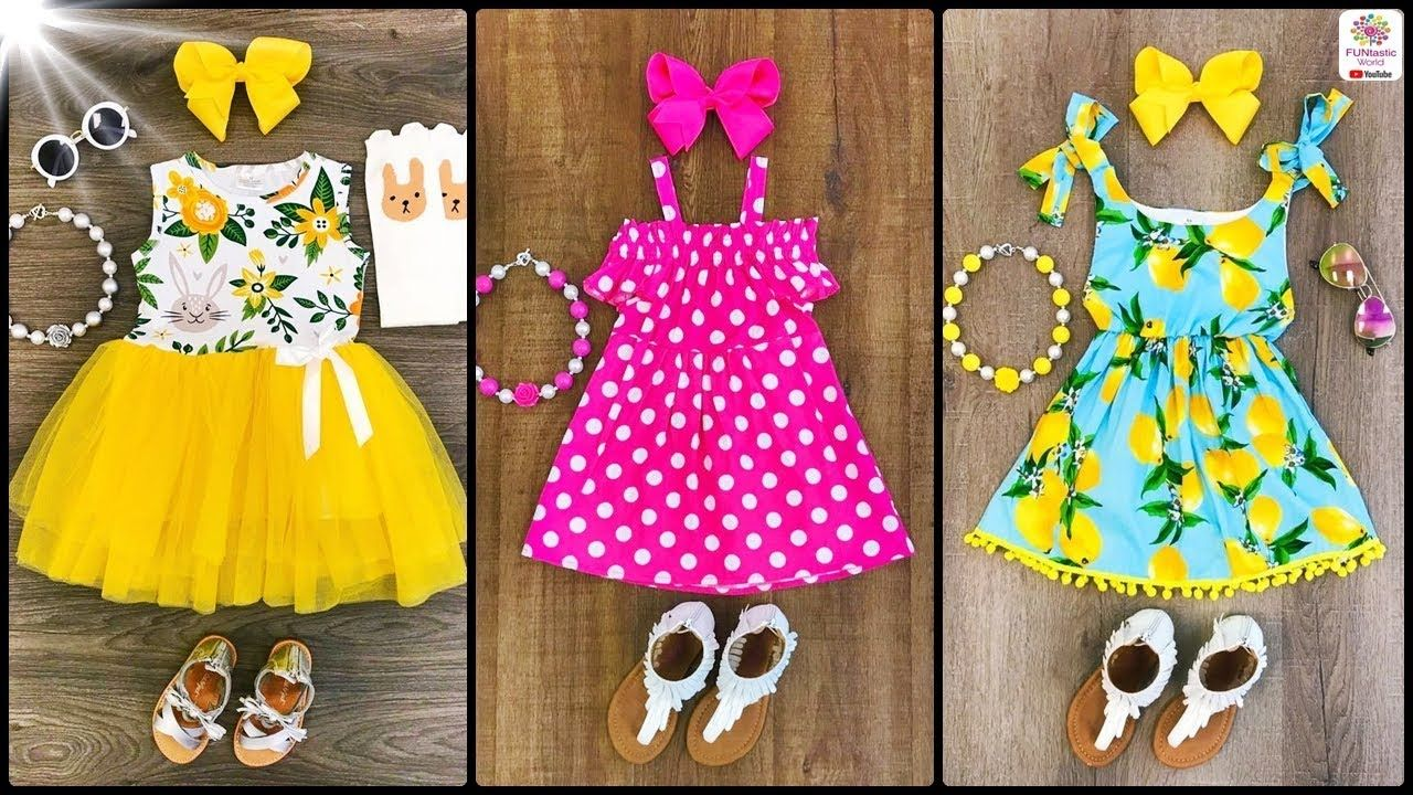 eec3bcd9db5c9 Kids Classic Summer Frocks/Outfits | Baby Girls Summer Cotton Dresses De.