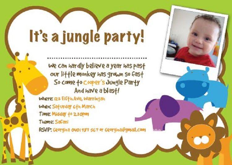 Jungle Party Invitation Wording Buick Birthday Invitations Kids