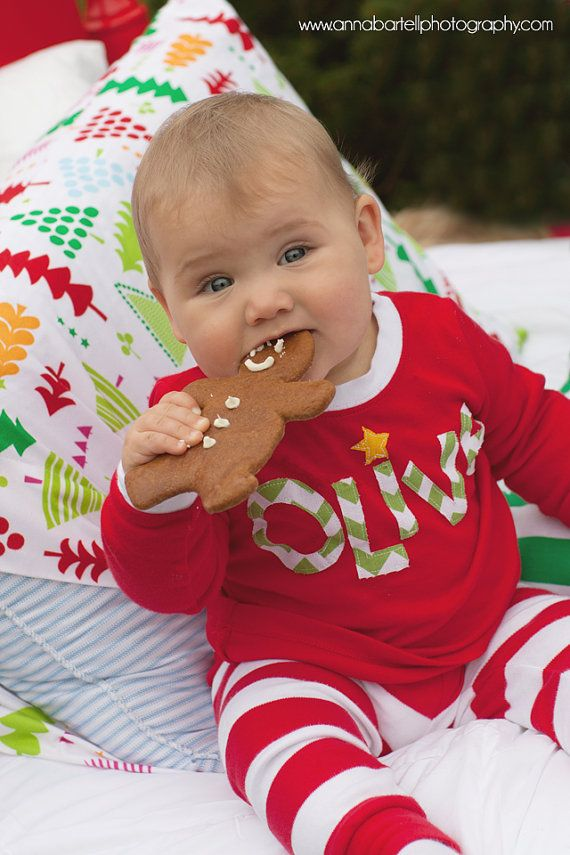 15b932123 Personalized Red and White Christmas Holiday Applique Kids Childrens ...