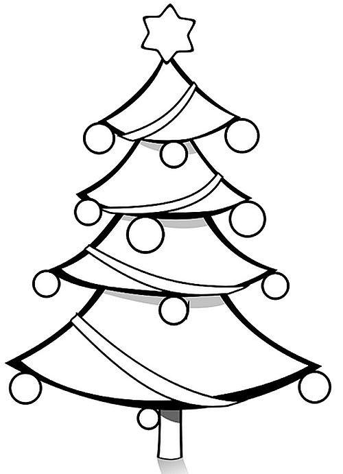 Christbaum Malvorlage und Ausmalbild Weihnachtsbaum