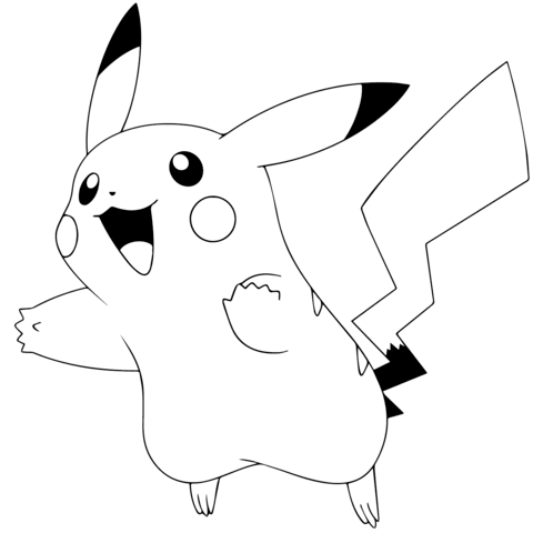 Pokmon GO Pikachu Coloring Page From Category Select 23360 Printable Crafts Of Cartoons Nature Animals Bible And Many More
