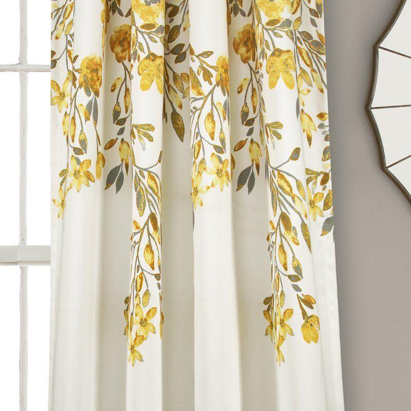 Saffr Walden Floral Room Darkening Thermal Rod Pocket Curtain Panels Floral Room Curtains Panel Curtains