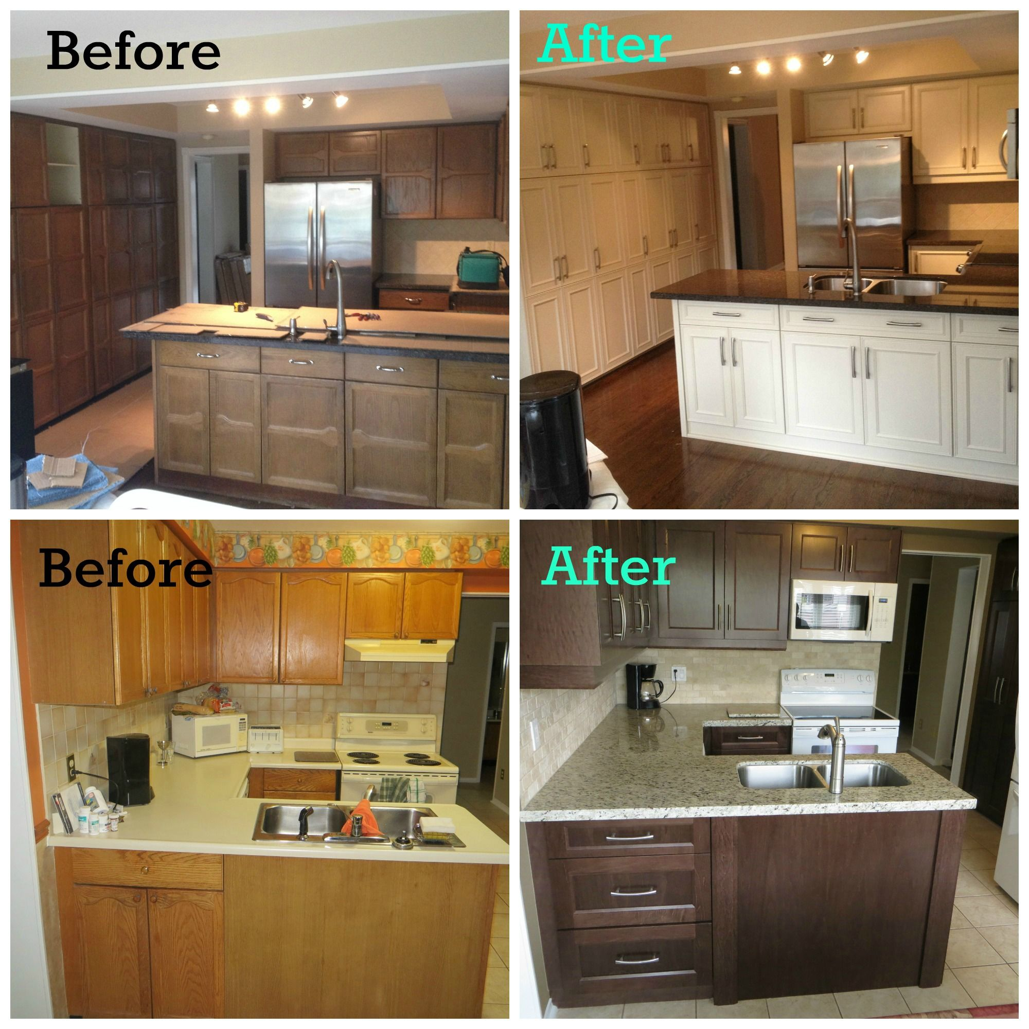 Refacing Old Kitchen Cabinets: Pin On Before And After Kitchens