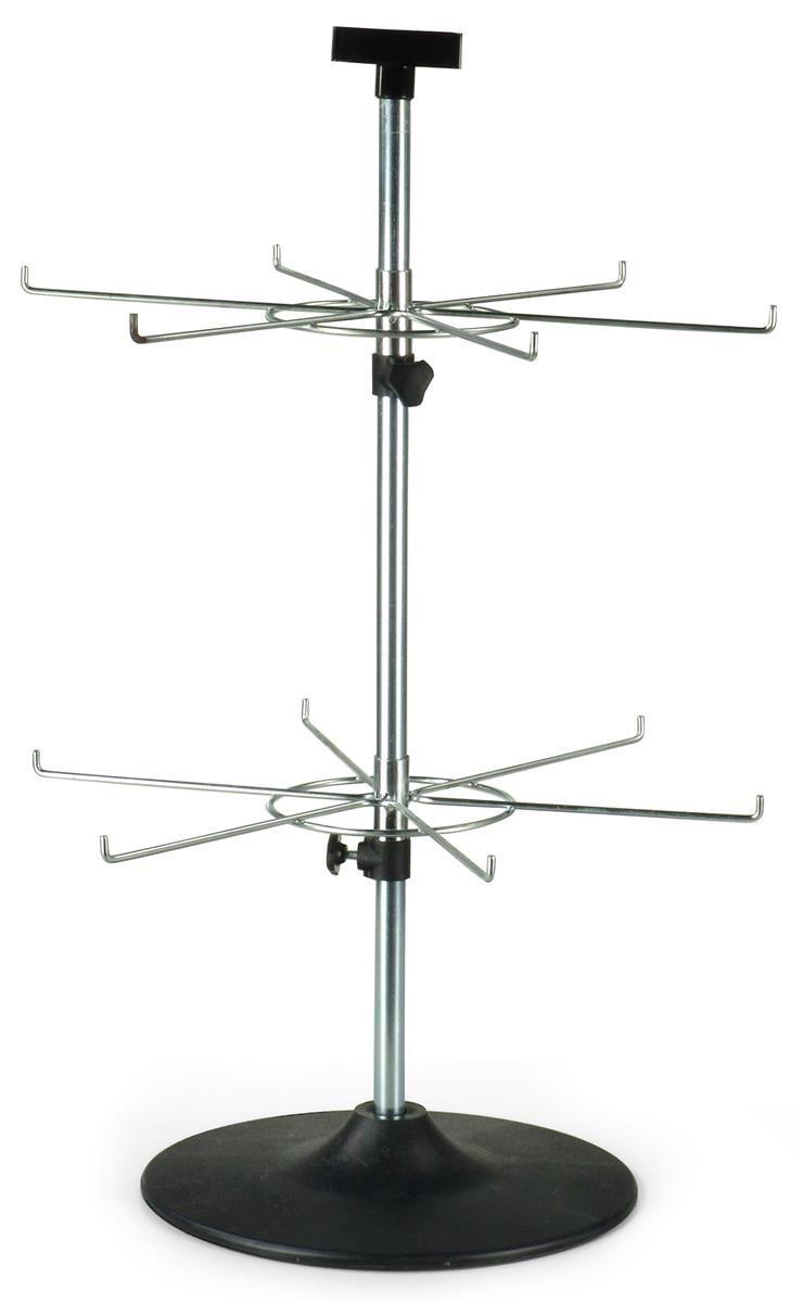 Countertop Spinner Rack For Blister Packs Header 2 Rotating