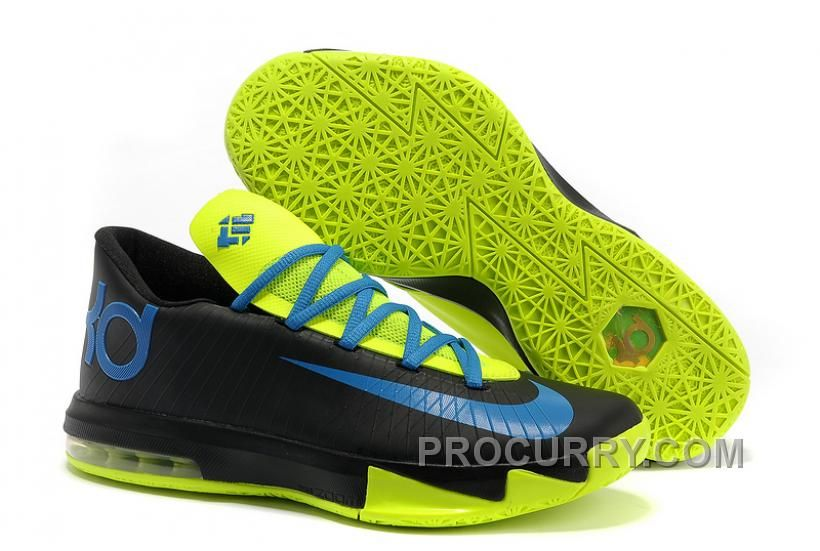 b87e9e57bc77 Nike Kevin Durant KD 6 VI Black Blue Green For Sale New Arrival ...