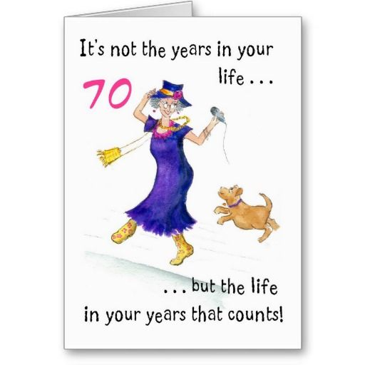 Fun 70th Birthday Card For A Woman