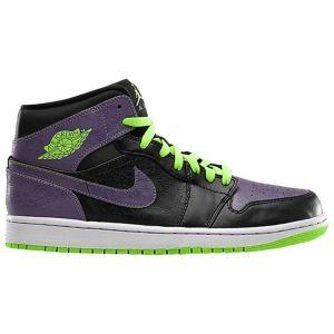 2e2ab6958484e7 Jordan AJ1 Mid - Mens - Black Electric Green Canyon Purple