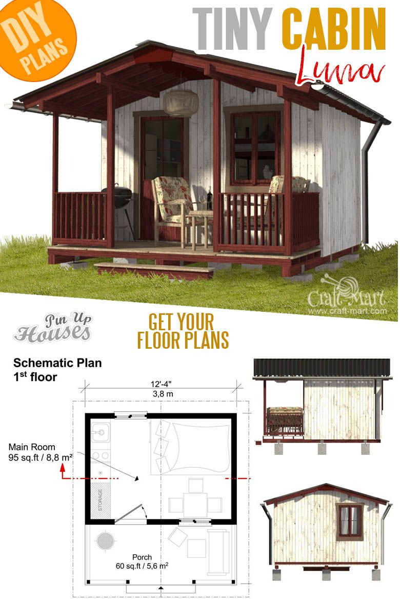 16 Cutest Small And Tiny Home Plans With Cost To Build Craft Mart Tiny House Floor Plans Small House Plans Small House Floor Plans