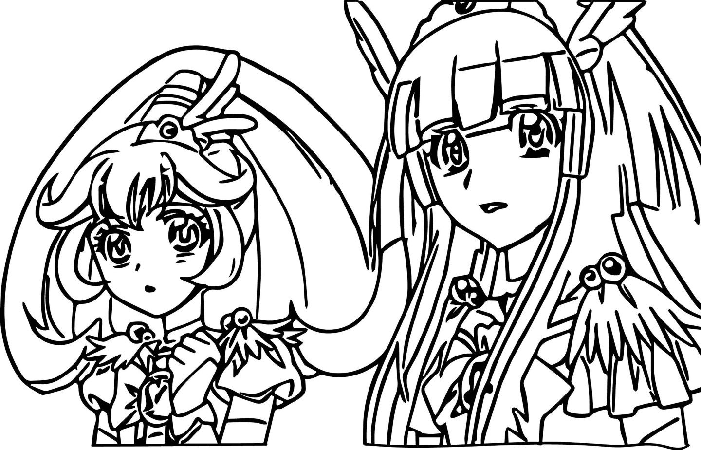 Glitter Force Coloring Pages Glitter Force Coloring Pages