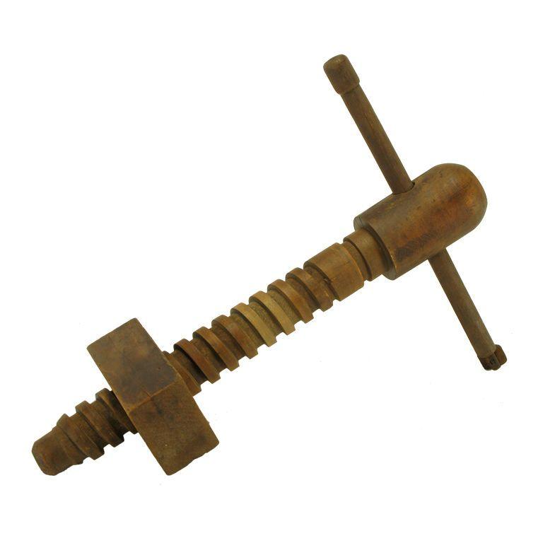 Vintage Carved Wood Screw Press Wood Screws And Carved Wood