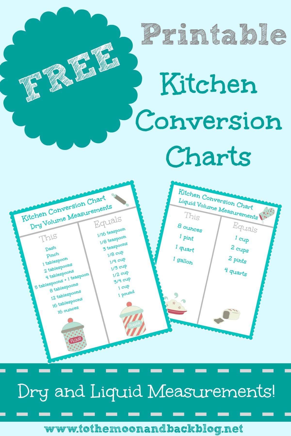Free Printable Kitchen Conversion Charts