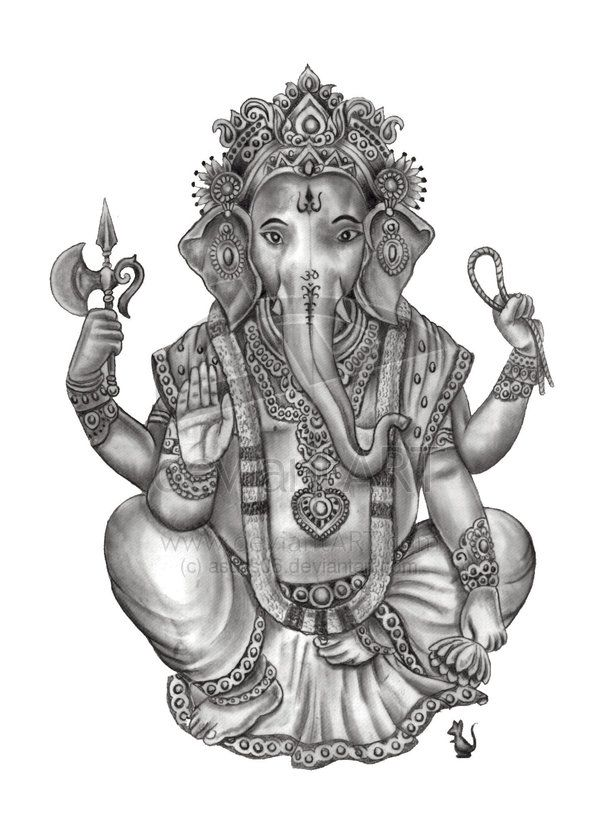 Ganesh Line Drawing : Ganesha drawing on pinterest