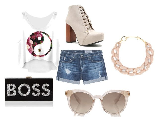 """""""#i_dont_know"""" by dragana157 ❤ liked on Polyvore featuring AG Adriano Goldschmied, Qupid, Milly and DIANA BROUSSARD"""