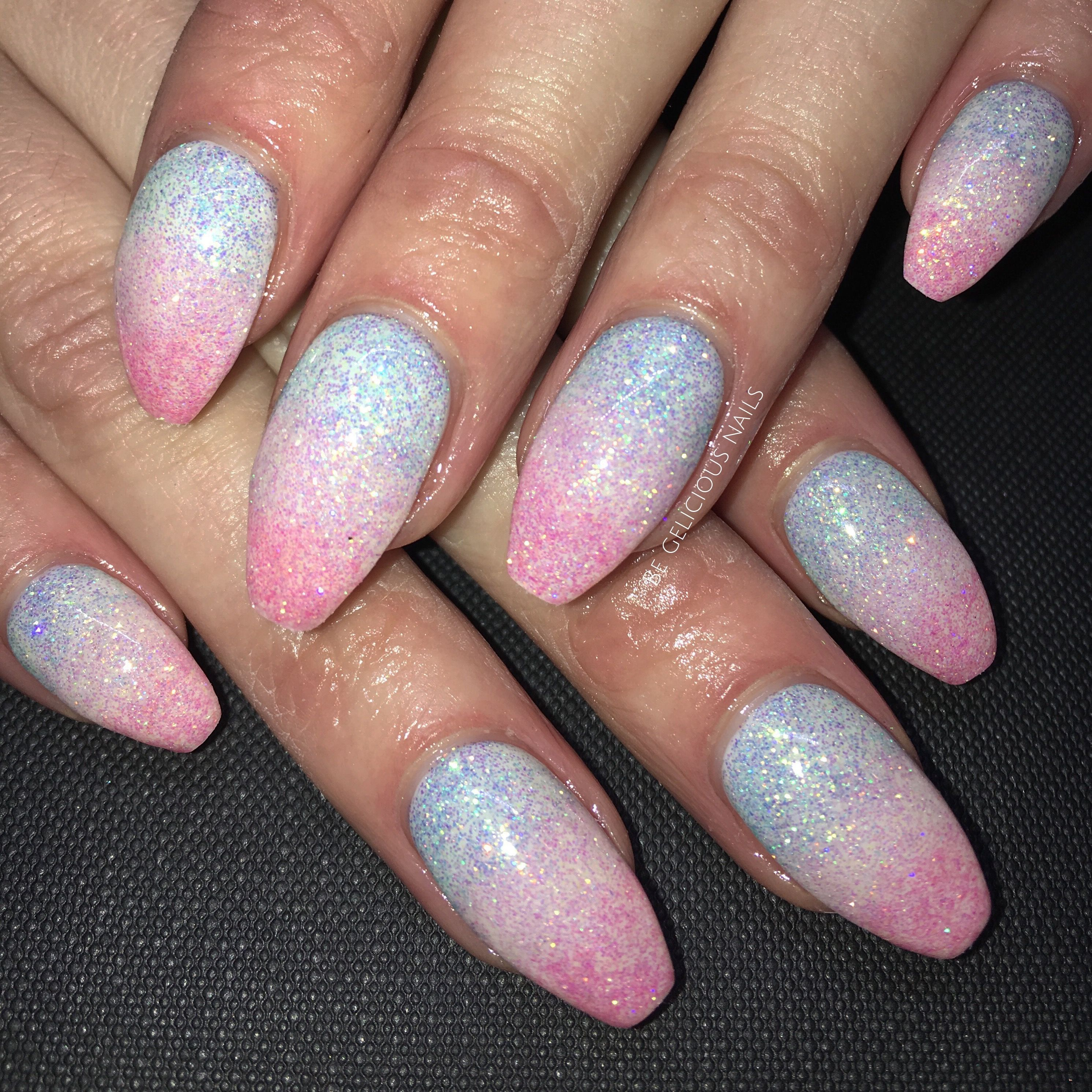 unicorn nails 🦄 calgel nails, nail art, nail design, gel nails