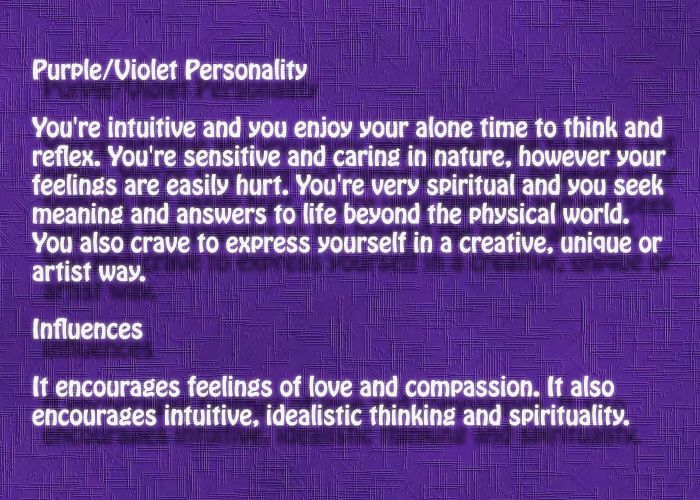 Purple Violet Personality Affects Aura Colors Meaning Purple Aura Color Meanings