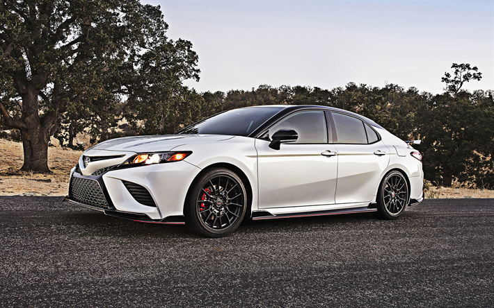 Download Wallpapers 2020 Toyota Camry Trd Side View New White Camry Tuning Camry Japanese Cars Usa Toyota 4k Besthqwallpapers Com Camry Toyota Camry Toyota