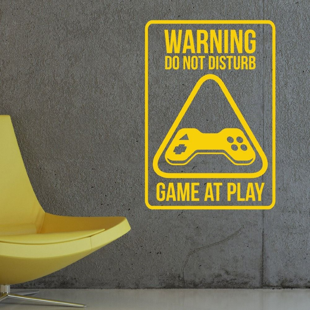 Warning Do Not Disturb Wall Decal Vinyl Sticker Interior Home Art ...