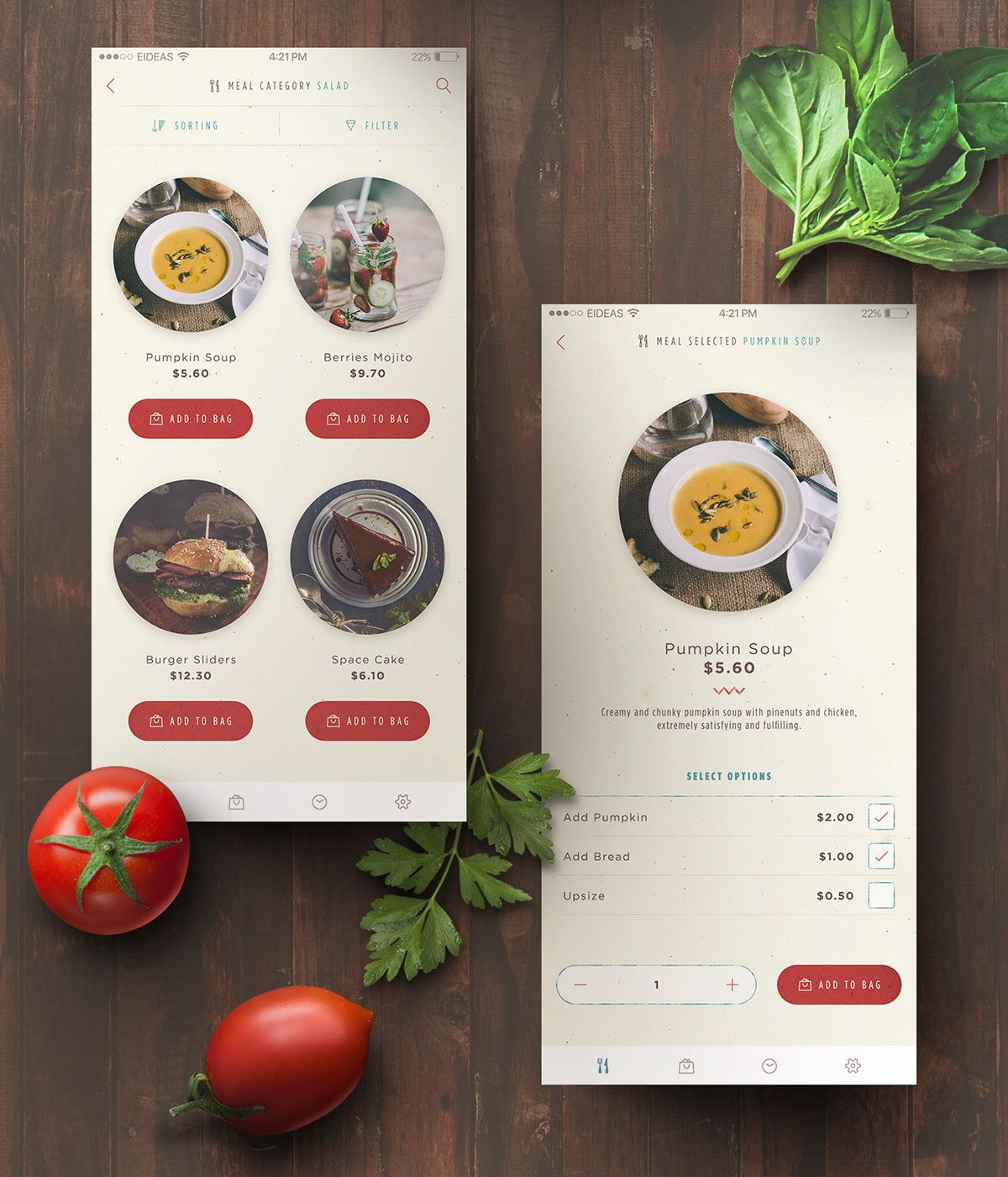 Happy Kitchen Food Delivery App on Behance App design