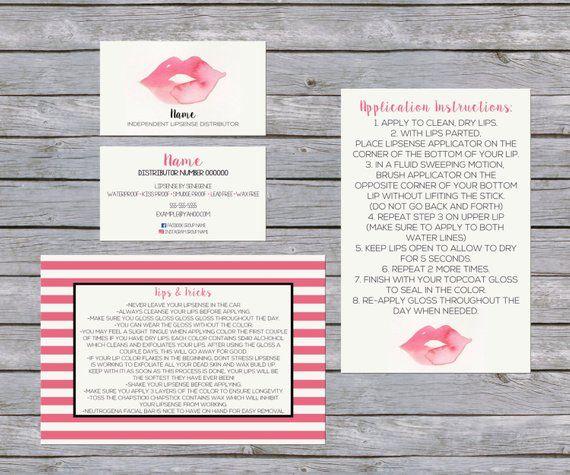LipSense Business Card - SenegGence Business Card Bundle Watercolor