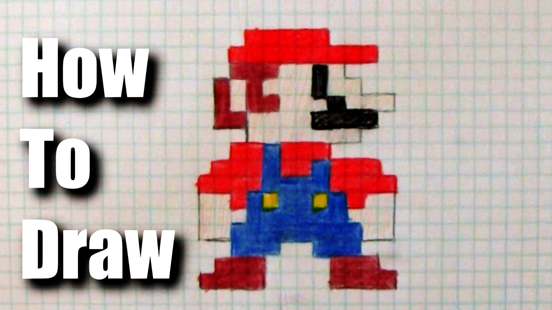 How to draw 8-bit Mario | 8-bit drawing | Pinterest