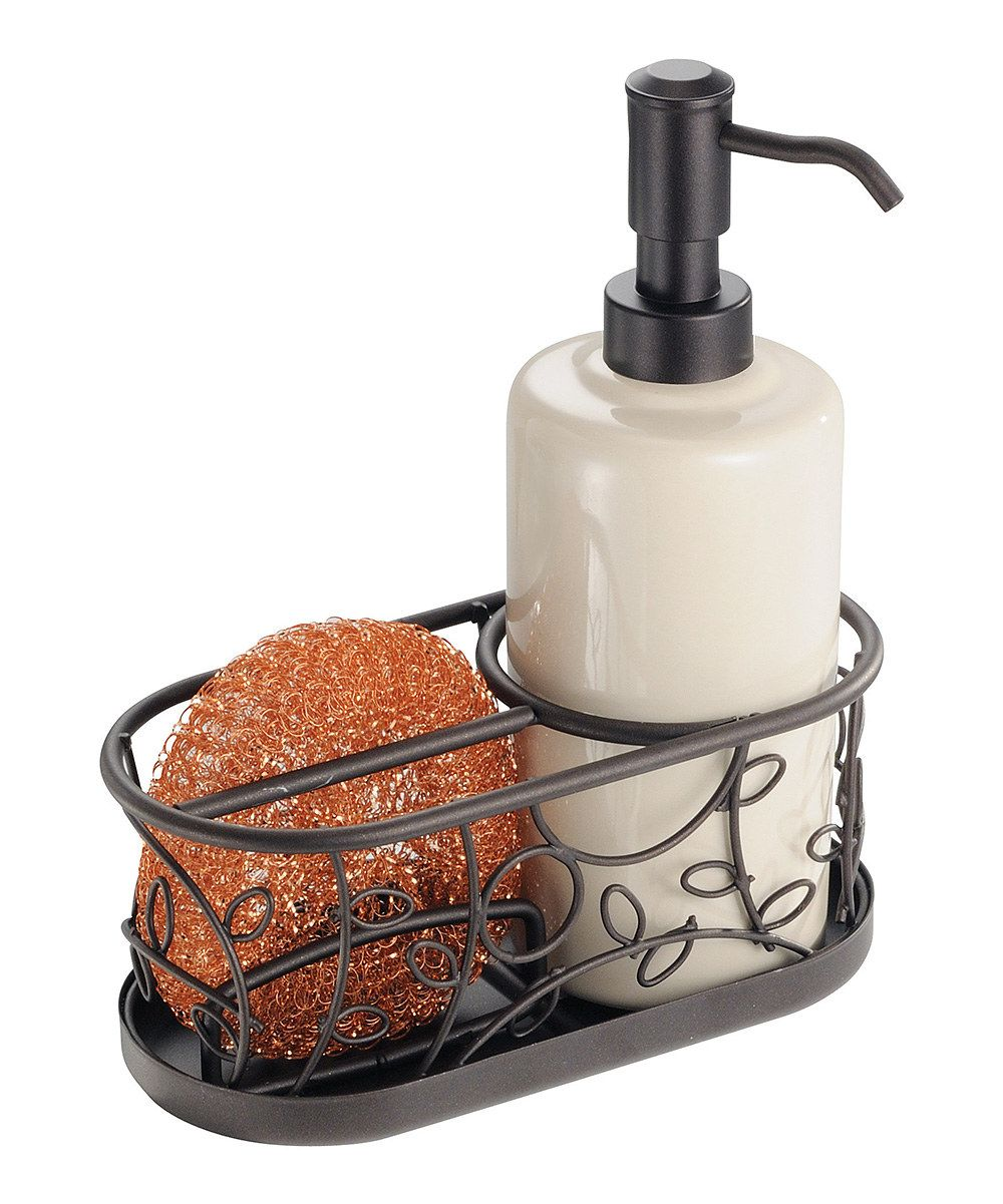 Look At This Bronze U0026 White Soap Dispenser U0026 Scrubby Caddy Set On #zulily  Today