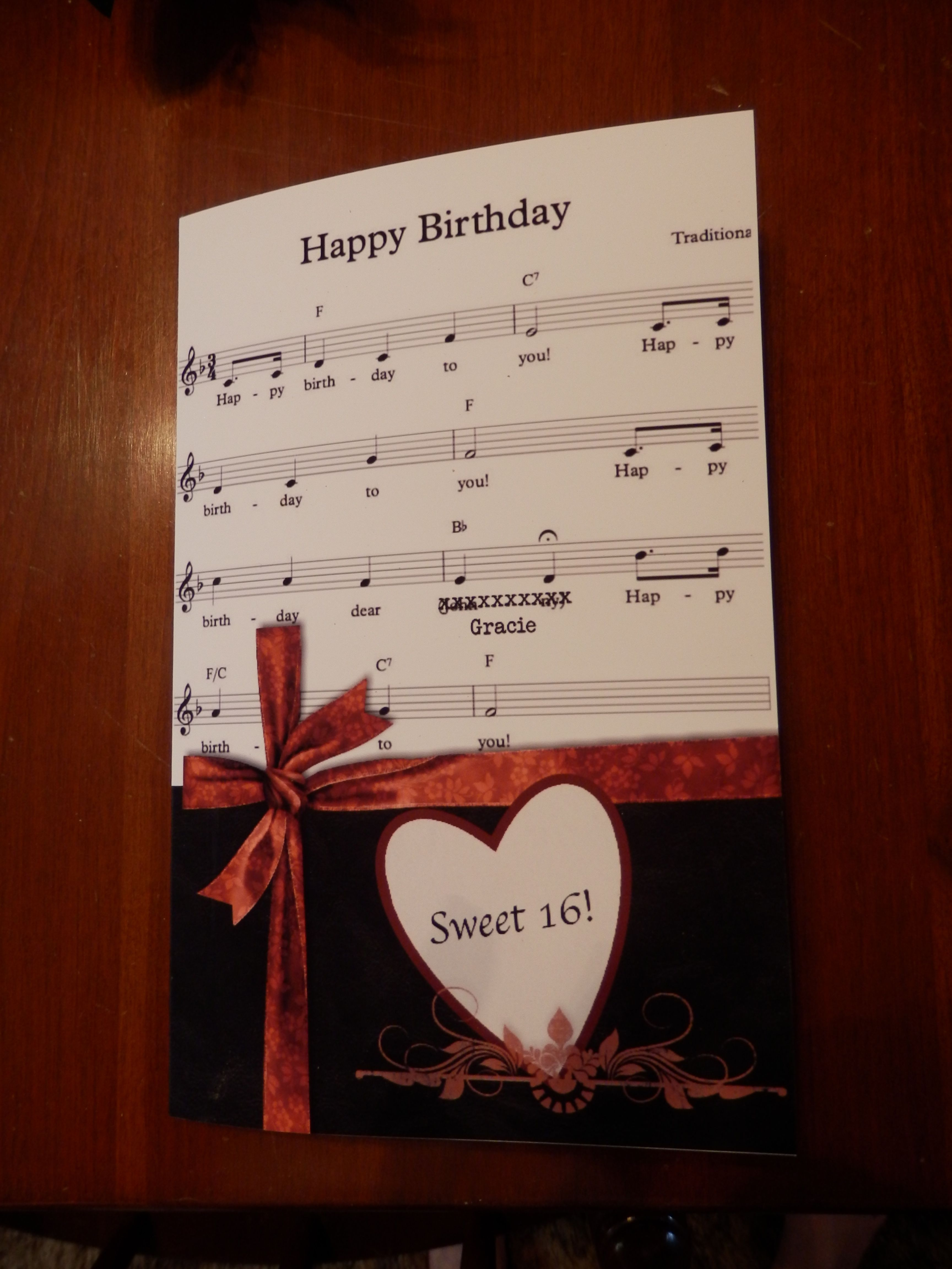 Birthday Card For A Music Lover Cards Themed Cards Sympathy Cards