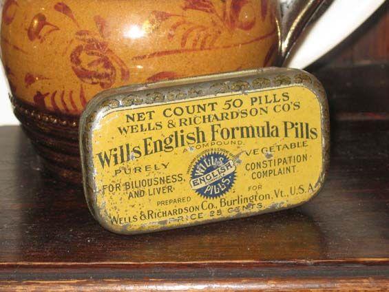 Vintage medicine tin.