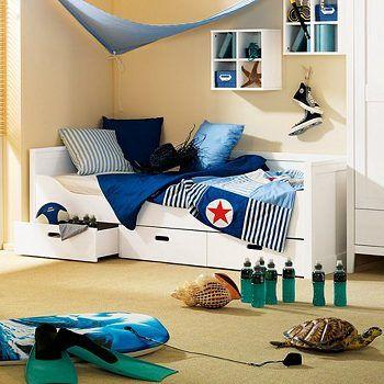 wellem bel kojenbett cielo kiefer massiv wei gewachst 90 x 200 kinderzimmer jungs. Black Bedroom Furniture Sets. Home Design Ideas
