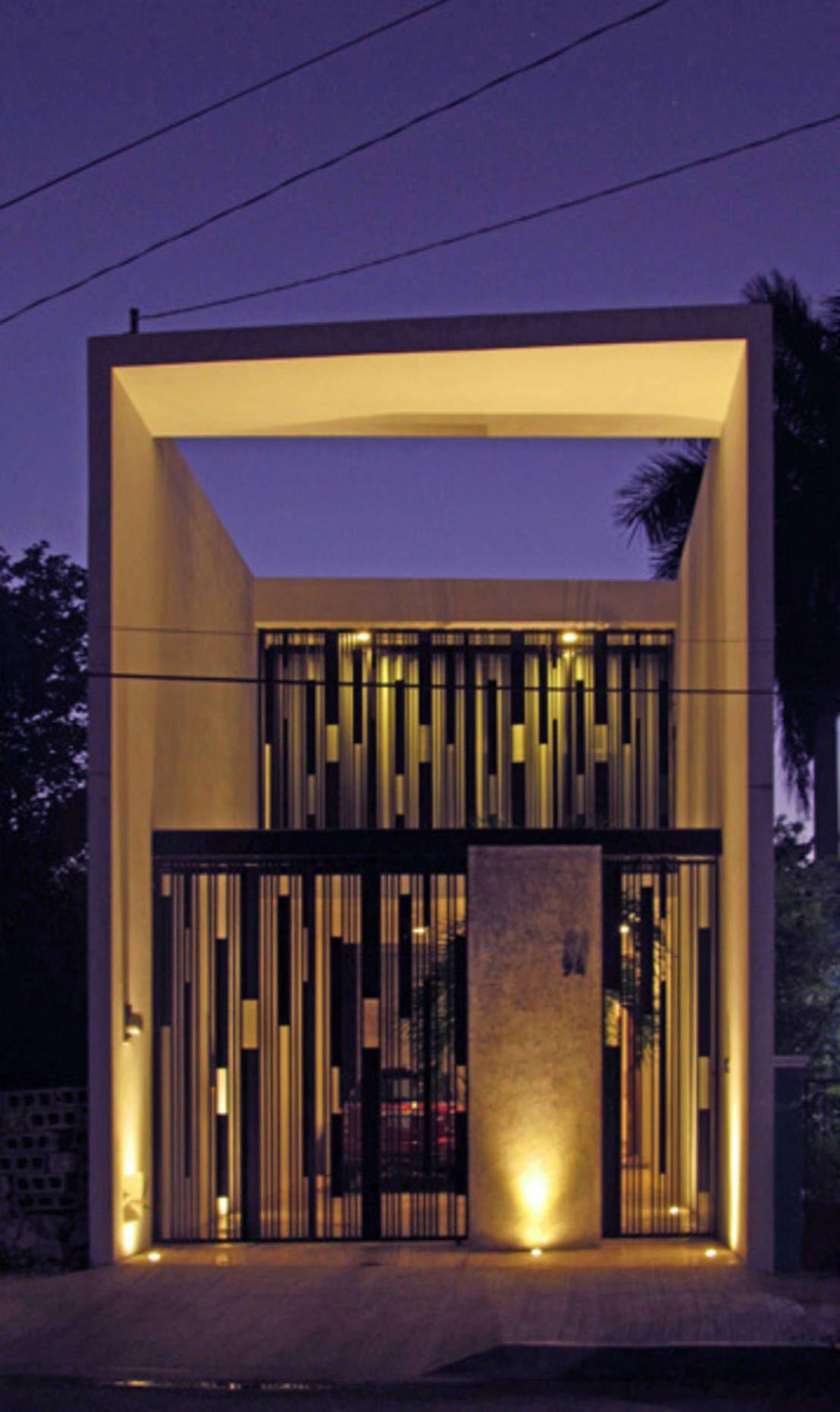 Casas peque as 8 fachadas sensacionales casas for Fachadas de viviendas pequenas
