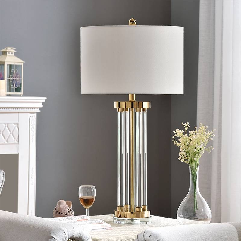 Nordic Table Lamp Post Modern Crystal Kung Desk Light Luxury Simple Copper Plated Desk Lamp Room Bedroom Bedside Design Art Deco Crystal Table Lamps Table Lamp Lamps Living Room