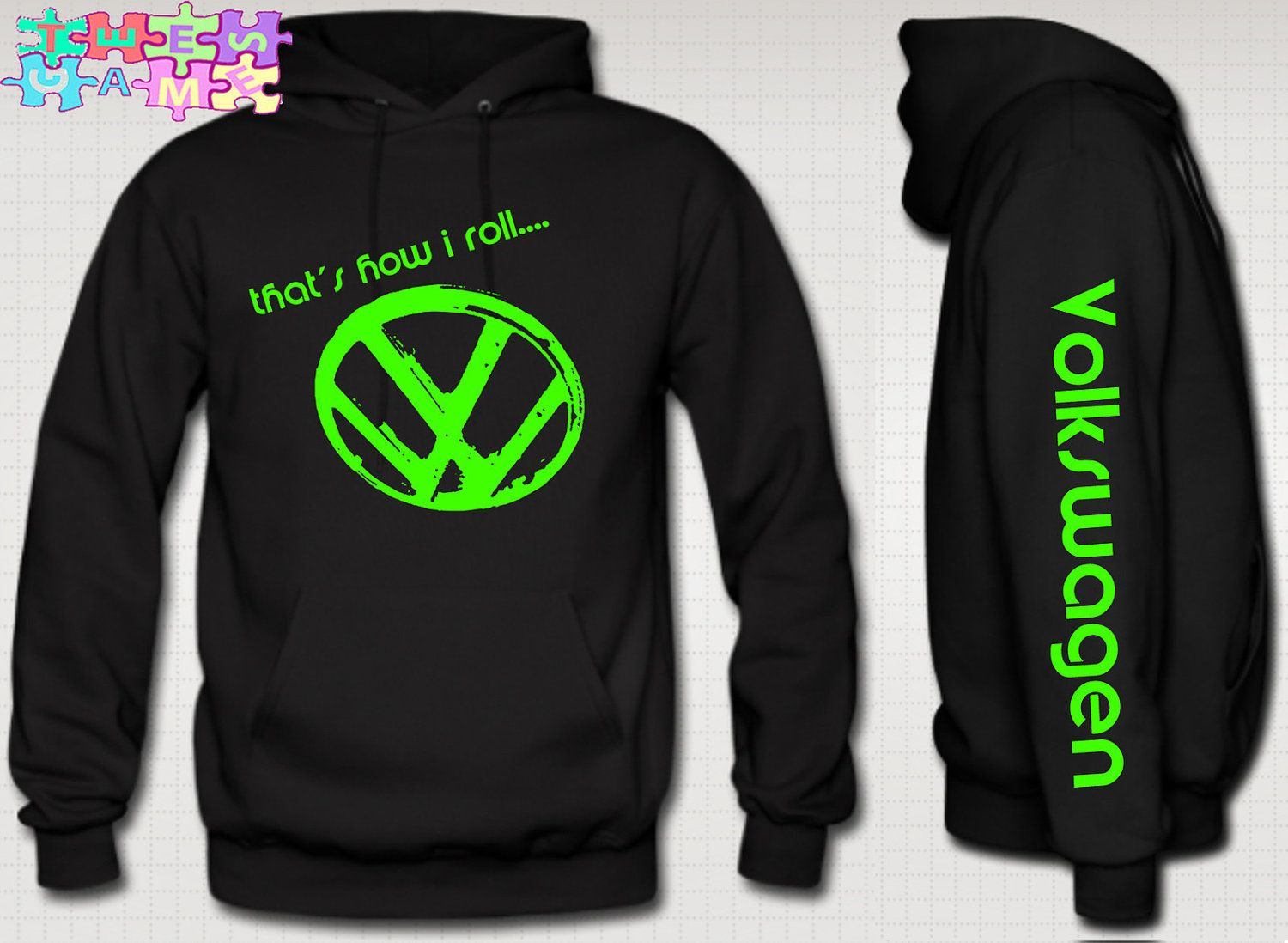 e158986a449c08 Volkswagen+hoodie+vw+thats+how+i+roll+Volkswagen+vw+by+TeesGame