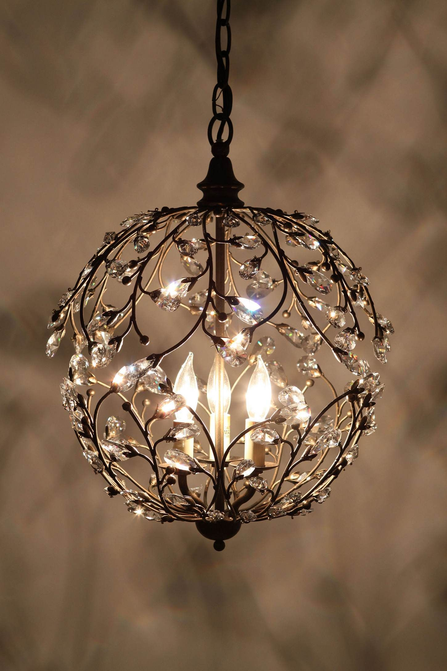 Small Simple Chandelier If I Were Rich I D Put That Over My Massive Copper Tub For The